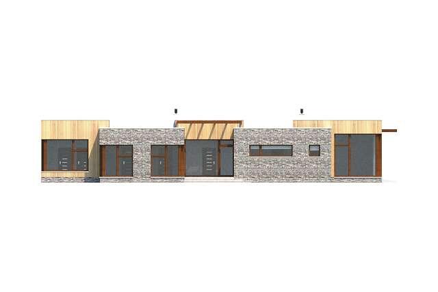 Zobacz powiększenie elewacji bocznej lewej - projekt Villach