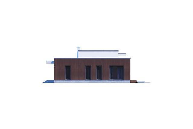 Zobacz powiększenie elewacji bocznej lewej - projekt Vitrac