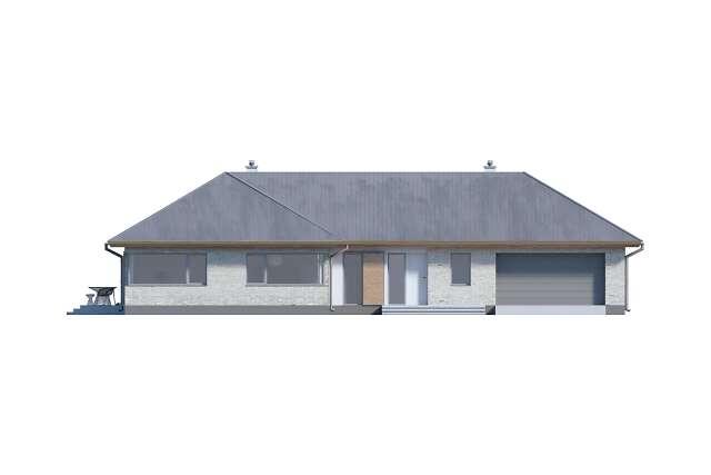 Zobacz powiększenie elewacji frontowej - projekt Adelajda
