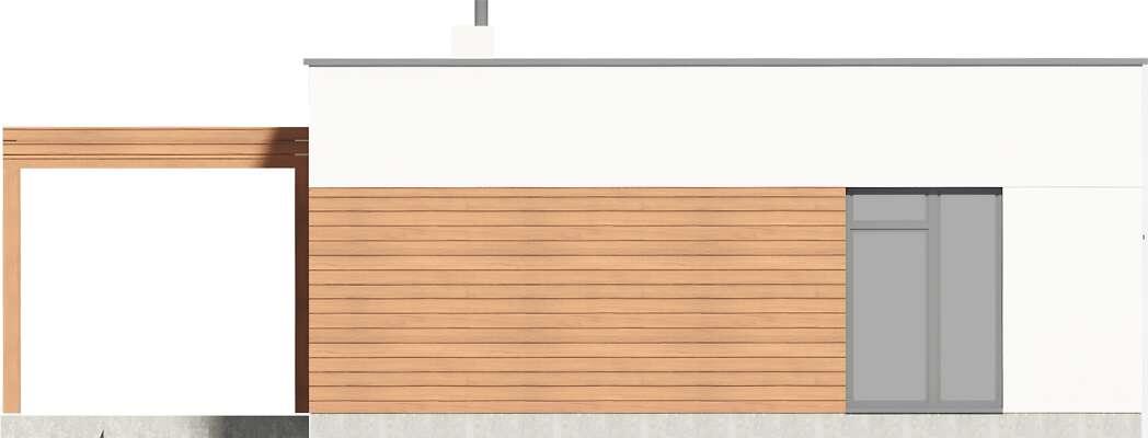 Elewacja boczna lewa - projekt Ribeira