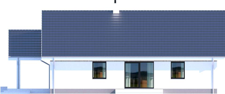 Elewacja boczna lewa - projekt Noordwijk