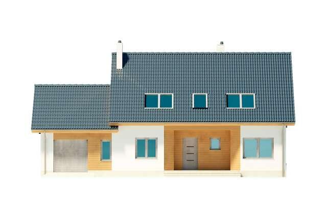 Zobacz powiększenie elewacji frontowej - projekt Brugia