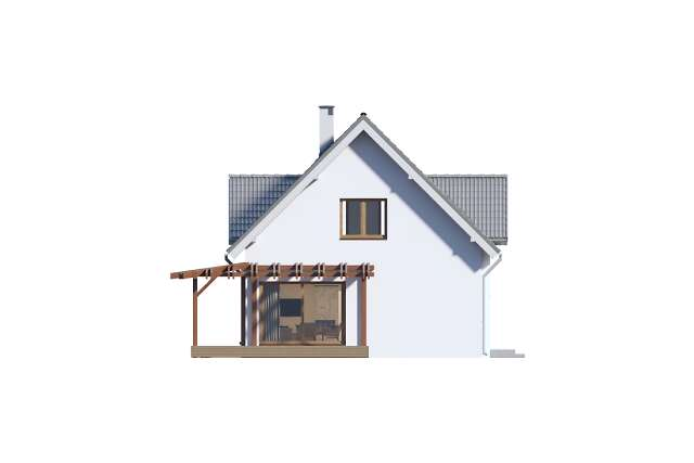 Zobacz powiększenie elewacji bocznej prawej - projekt Tokio VII