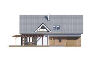 Elewacja frontowa - projekt Tokio VII