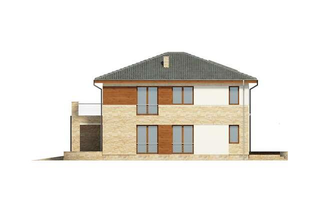 Zobacz powiększenie elewacji bocznej prawej - projekt Siena