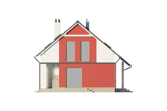 Zobacz powiększenie elewacji bocznej lewej - projekt Cottbus