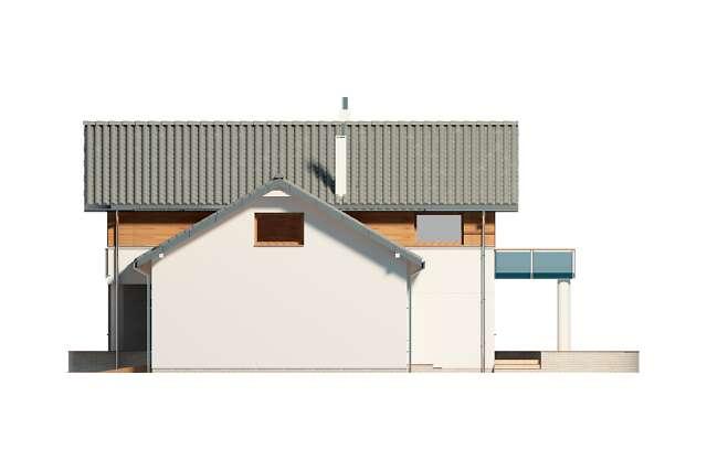 Zobacz powiększenie elewacji bocznej prawej - projekt Sapporo II
