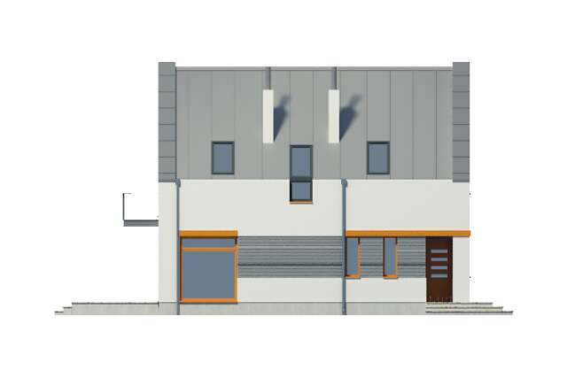 Zobacz powiększenie elewacji bocznej lewej - projekt Ulm