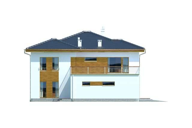 Zobacz powiększenie elewacji bocznej lewej - projekt Brisbane