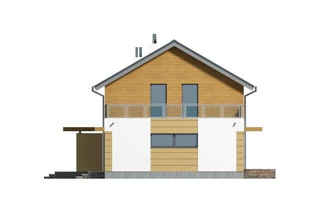 Zobacz powiększenie elewacji bocznej lewej - projekt Nikko