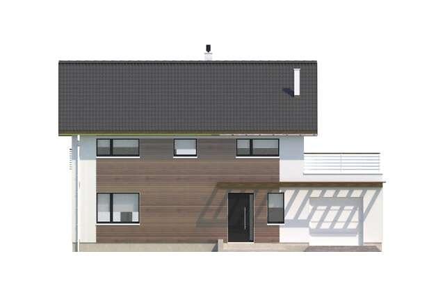 Zobacz powiększenie elewacji frontowej - projekt Nikko II