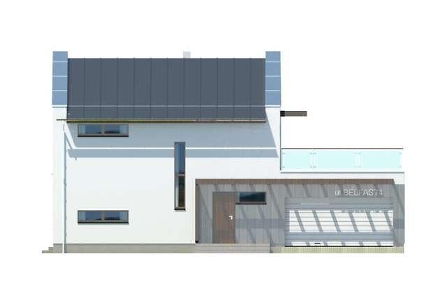Zobacz powiększenie elewacji frontowej - projekt Belfast IV