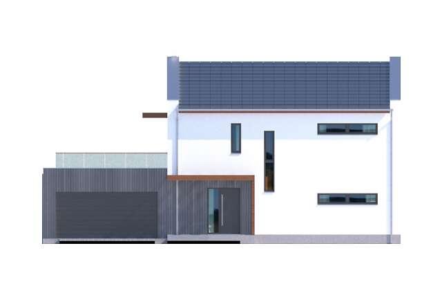 Zobacz powiększenie elewacji frontowej - projekt Belfast VIII