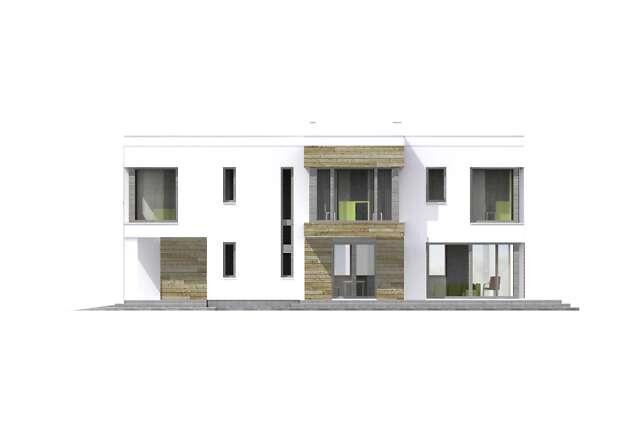 Zobacz powiększenie elewacji bocznej lewej - projekt Aarhus