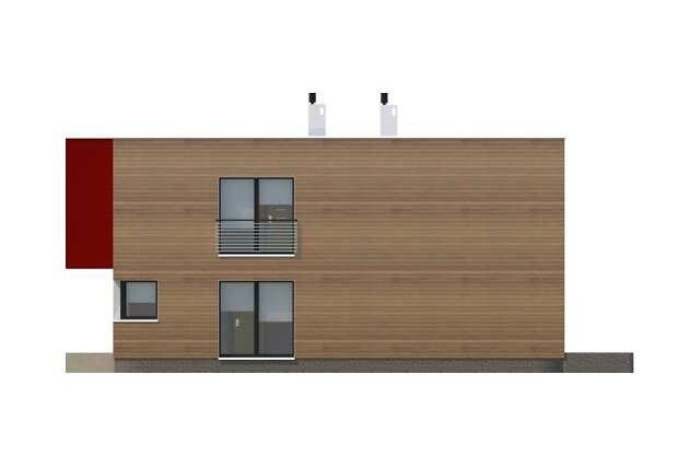 Zobacz powiększenie elewacji bocznej prawej - projekt Delft II