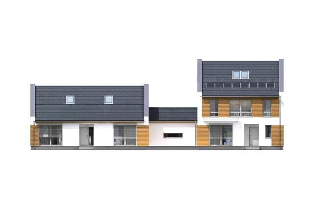 Zobacz powiększenie elewacji frontowej - projekt Odense