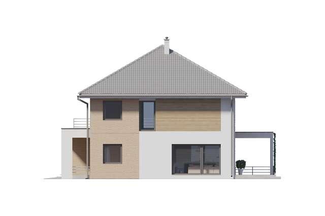 Zobacz powiększenie elewacji bocznej prawej - projekt Carrara III