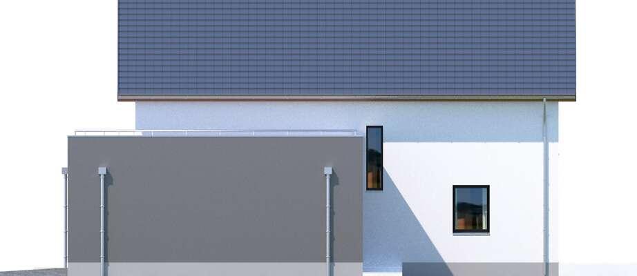 Elewacja boczna prawa - projekt Bergamo III