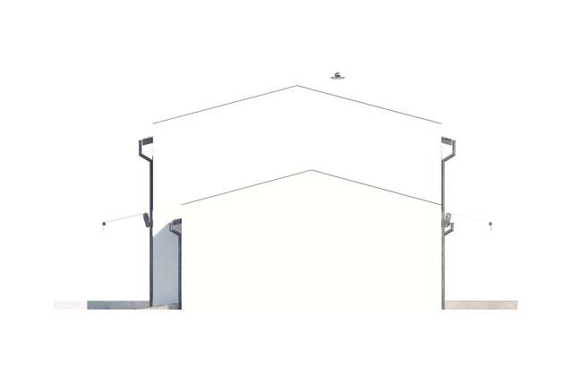 Zobacz powiększenie elewacji bocznej prawej - projekt Skagen III