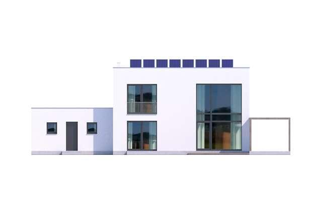 Zobacz powiększenie elewacji ogrodowej - projekt Koge III