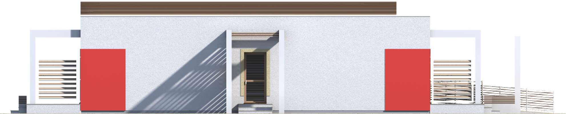 Elewacja boczna lewa - projekt Budynek agroturystyczny Jesion