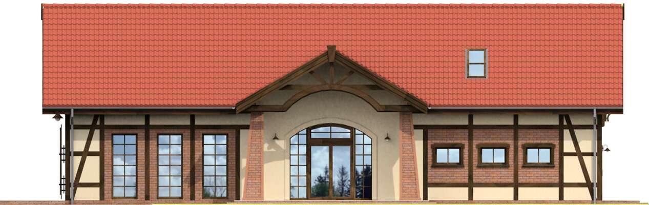 Elewacja frontowa - projekt Budynek usługowy Orzeł