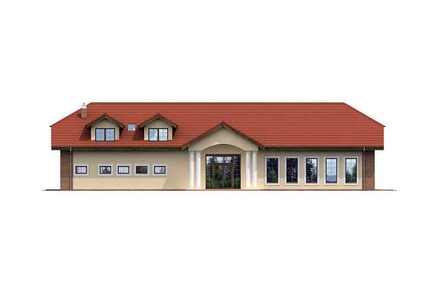 Zobacz powiększenie elewacji frontowej - projekt Budynek usługowy Puchacz