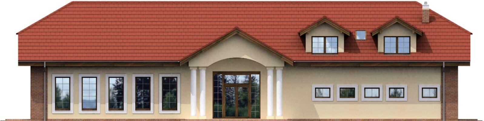 Elewacja frontowa - projekt Budynek usługowy Puchacz