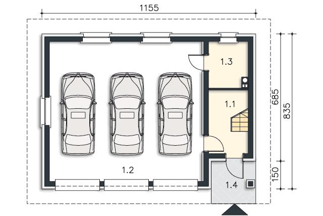 Projekt Domu Garaż G37 Kup U źródła