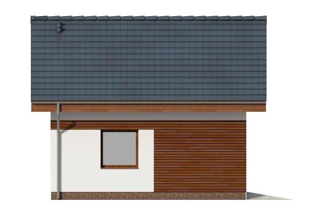 Zobacz powiększenie elewacji bocznej lewej - projekt Garaż