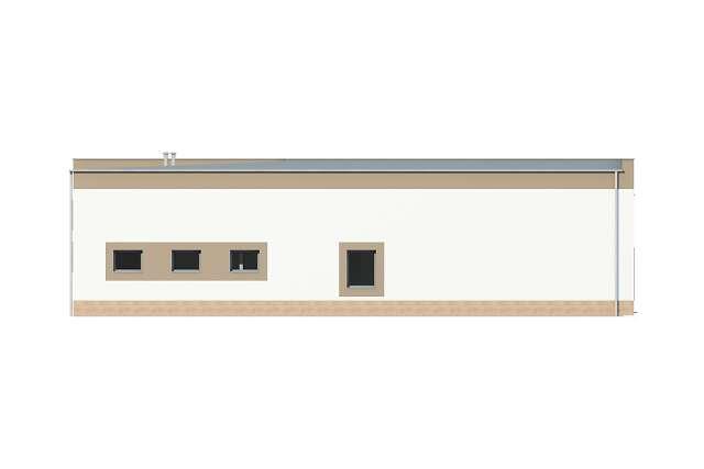 Zobacz powiększenie elewacji ogrodowej - projekt Budynek usługowy