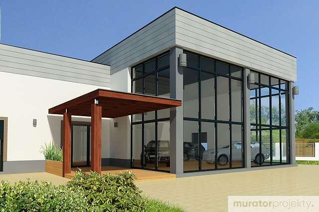Zobacz powiększenie wizualizacji detalu - projekt Budynek usługowy