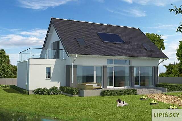 Zobacz powiększenie wizualizacji ogrodowej - projekt Lipińscy Dom Pasywny 1