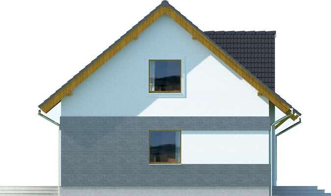 Elewacja boczna lewa - projekt Lipińscy Dom Pasywny 1