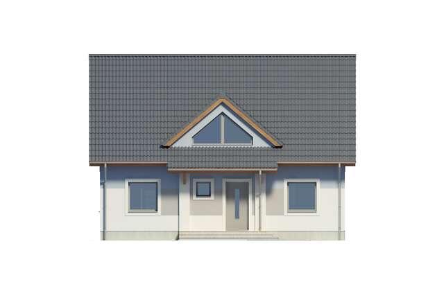 Zobacz powiększenie elewacji frontowej - projekt Lipińscy Dom Pasywny 2
