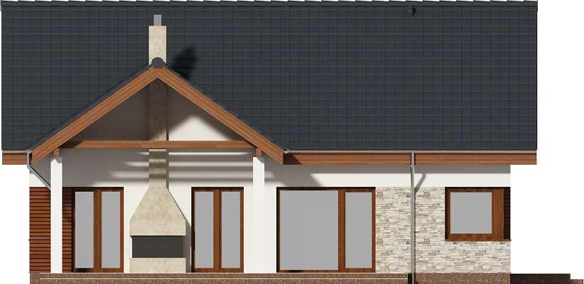 Elewacja ogrodowa - projekt Pireus III Pasywny 3b