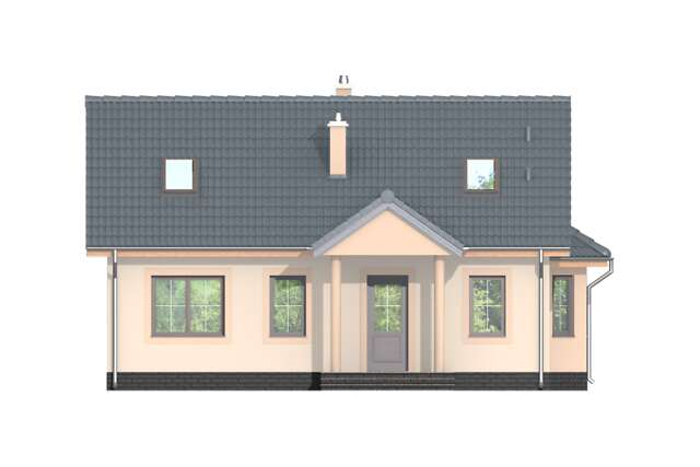 Zobacz powiększenie elewacji ogrodowej - projekt Lubeka II