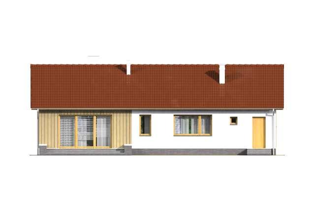 Zobacz powiększenie elewacji ogrodowej - projekt Vis II