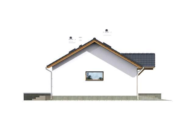 Zobacz powiększenie elewacji bocznej lewej - projekt Vis III