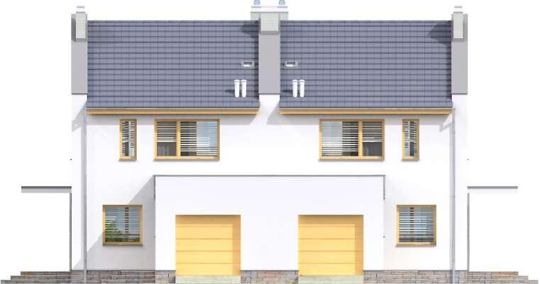 Elewacja frontowa - projekt Norwich