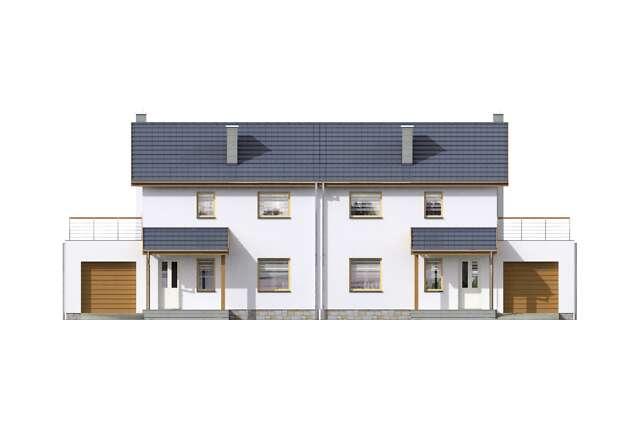 Zobacz powiększenie elewacji frontowej - projekt Glasgow II