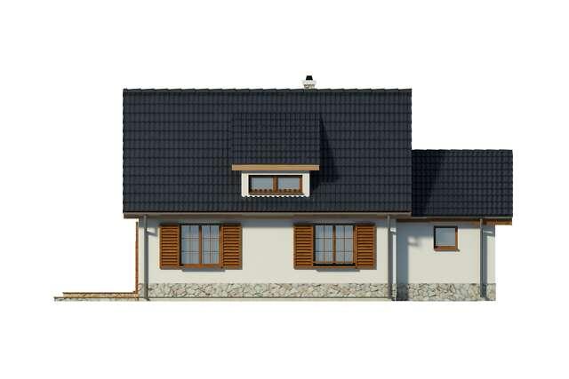 Zobacz powiększenie elewacji ogrodowej - projekt Oslo II