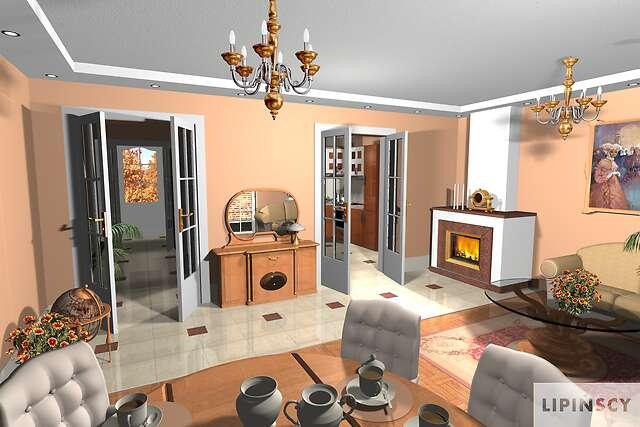 Zobacz powiększenie wizualizacji wnętrza - projekt Windsor