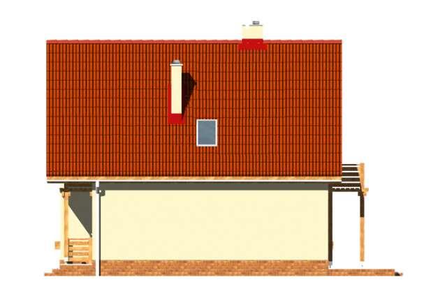 Zobacz powiększenie elewacji bocznej prawej - projekt Ustronny
