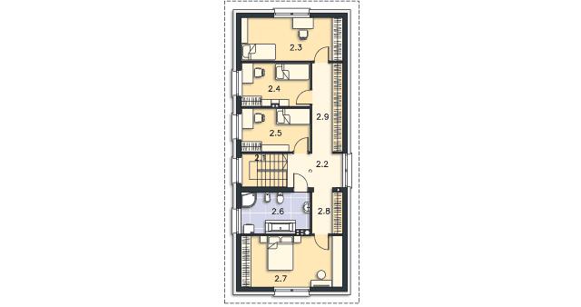 Rzut kondygnacji Piętro - projekt Lincoln