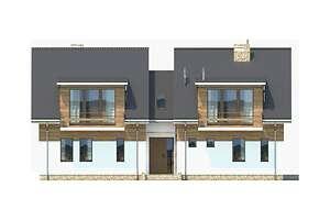 Elewacja frontowa - projekt Budynek agroturystyczny Brzoza