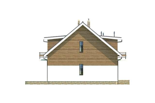 Zobacz powiększenie elewacji bocznej lewej - projekt Budynek agroturystyczny Brzoza