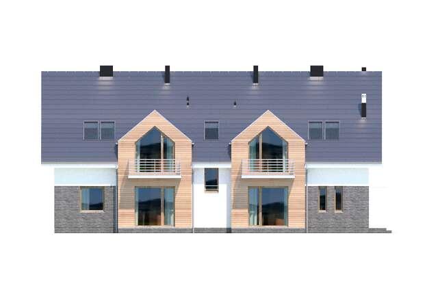 Zobacz powiększenie elewacji ogrodowej - projekt Budynek agroturystyczny Dąb 3