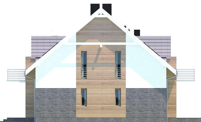 Elewacja boczna prawa - projekt Budynek agroturystyczny Dąb 3