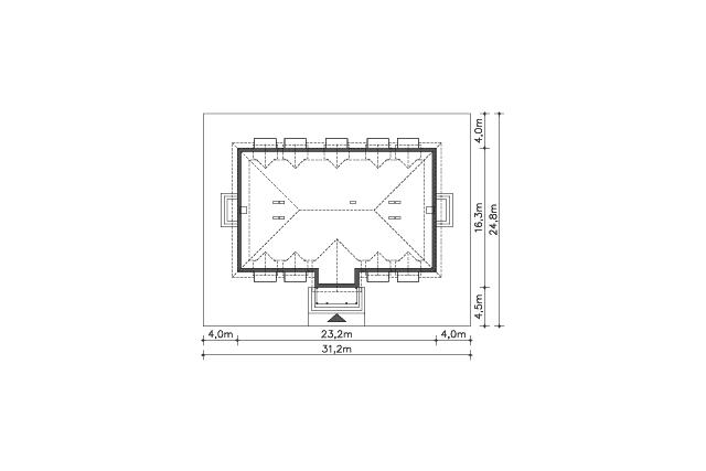 Zobacz powiększenie działki - projekt Budynek agroturystyczny Ambrowiec